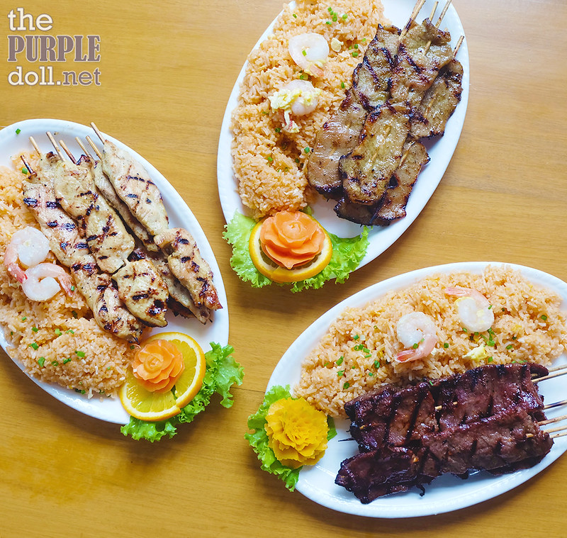 House Special Sate Dinner Chicken P580, Pork P580 and Beef P720