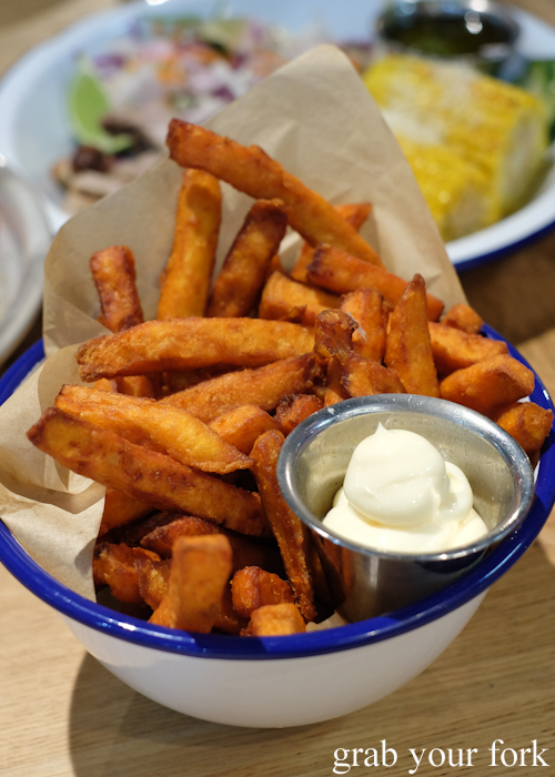 Sweet potato fries at Merchants of Ultimo at Broadway Shopping Centre