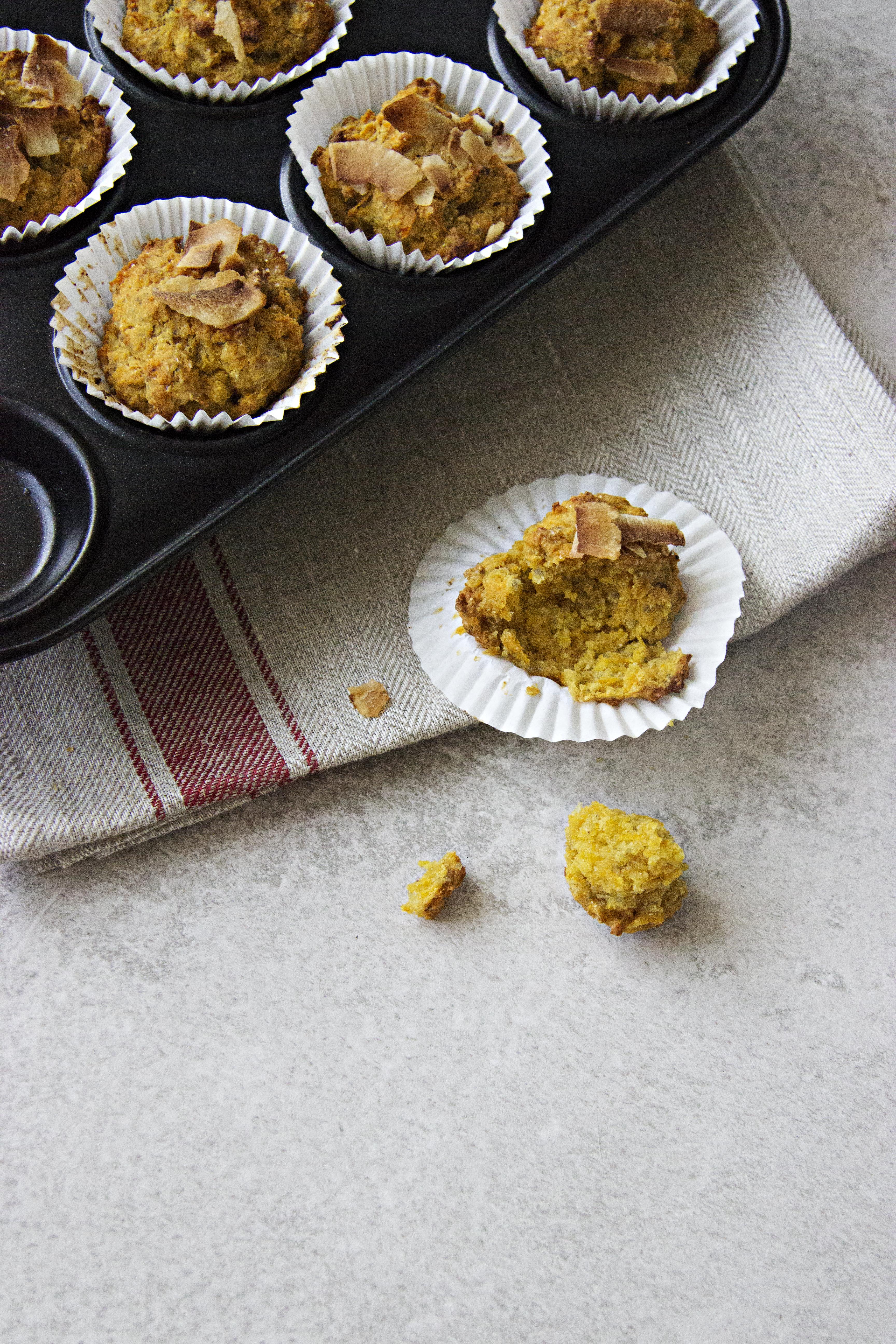 Queques de Cenoura sem Glúten / Gluten-Free Carrot Muffins