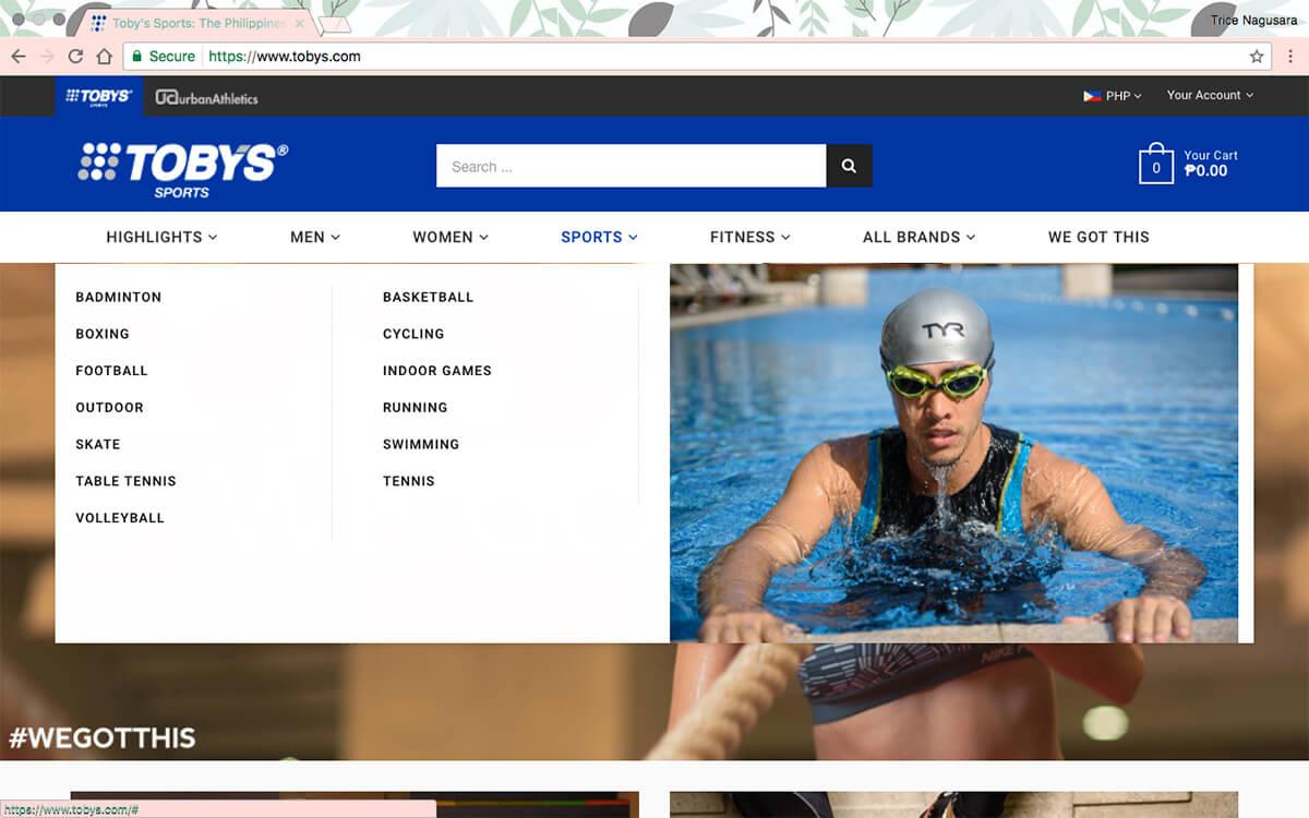 Toby's Sports Website