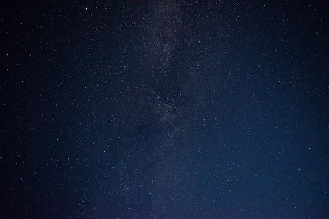 八丈島・底土キャンプ場からの星空