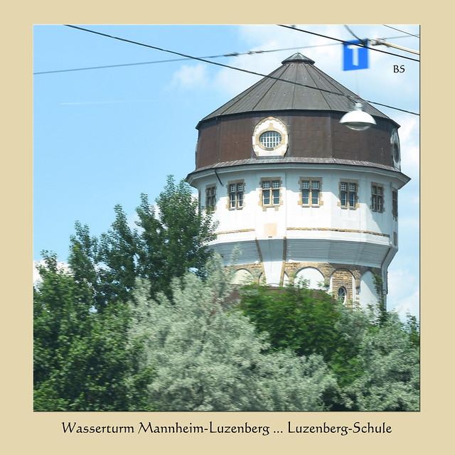 Der alte Wasserturm in Mannheim-Luzenberg beherbergt die Luzenbergschule ... Foto: Brigitte Stolle