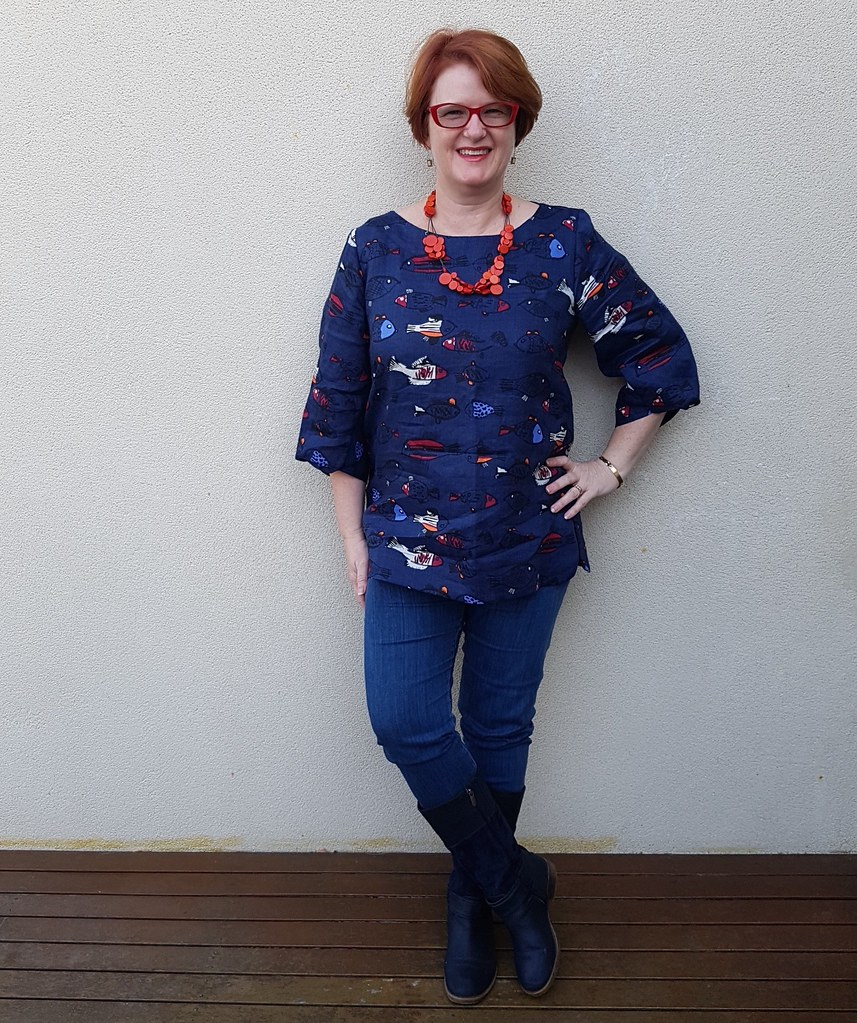 Style Arc Sadie tunic in linen from Darn Cheap Fabrics