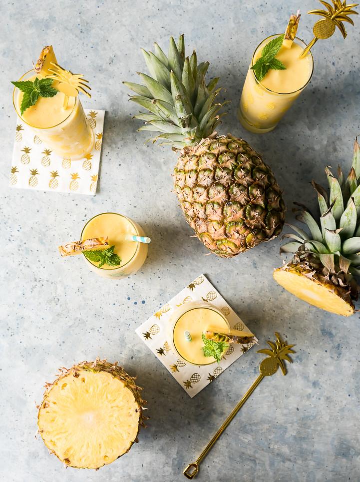Pineapple White Wine Slushies www.pineappleandcoconut.com