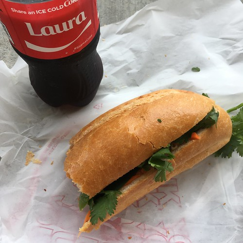 "Eating A Bahn Mi With My New Friend ""Laura"""