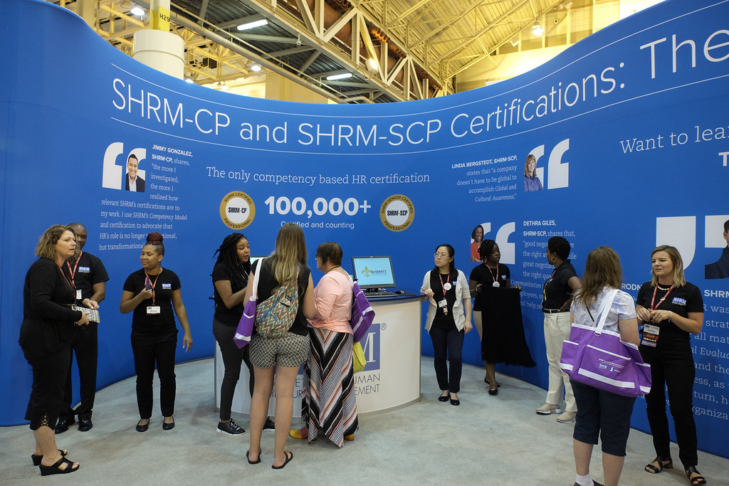 Shrm Certification Booth In Exposition Hall During The Gra Flickr