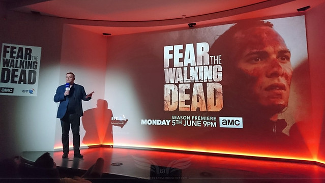 The Establishing Shot: FEAR THE WALKING DEAD - LAUNCH KEVIE DICKIE, SENIOR VICE PRESIDENT, CHANNELS GROUP, AMC INTRODUCES FTWD EPISODE 1 SEASON 3  @ BT TOWER