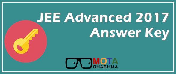 JEE Advanced 2017 Answer Key