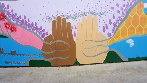 Two hands united. Behind Kingscote Council Chambers. | by StephenMitchell