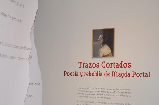 Exposición Trazos cortados. Poesía y rebeldía de Magda Portal