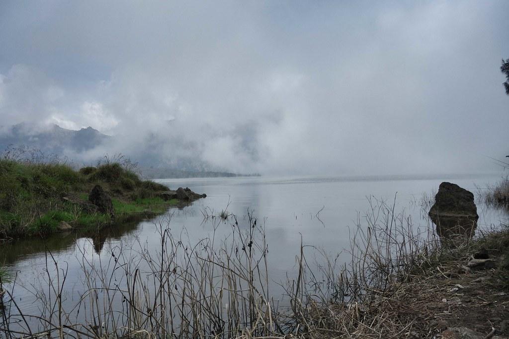 Rinjani - Jour 2 - Arrivee Lac Cratere