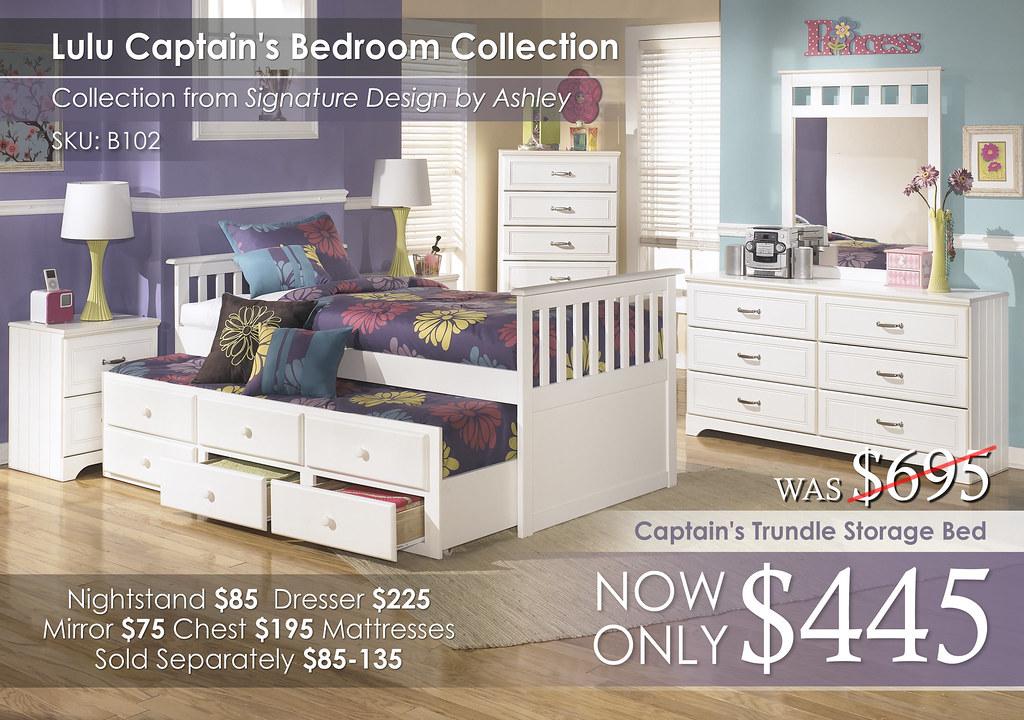 Lulu Captains Bedroom B102-21-26-46-53-50TD-83-OPEN-92-SD
