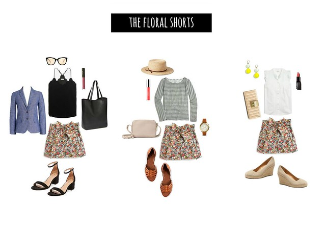 3 ways to wear J.Crew floral shorts | Style On Target blog