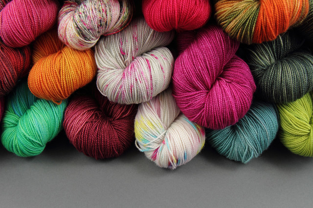 Favourite Sock superwash pure merino wool yarn – 6 skein lucky dip pack + Cerys Hexagon Blanket pattern