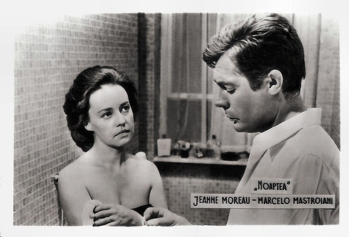 Jeanne Moreau and Marcello Mastroianni in La Notte (1961)