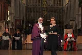 Our Director Gemma accepting our 2017 Southwark Civic Award | by linkagesouthwark