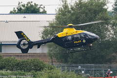 G-POLD - 2003 build Eurocopter EC135 T2+, departing from the Police ASU at Barton