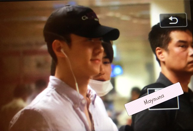 170609 Sehun, Suho and Chanyeol at Changi Airport