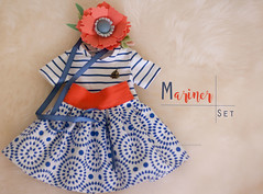 "Mariner- set of clothing for 15-17"" cloth dolls"