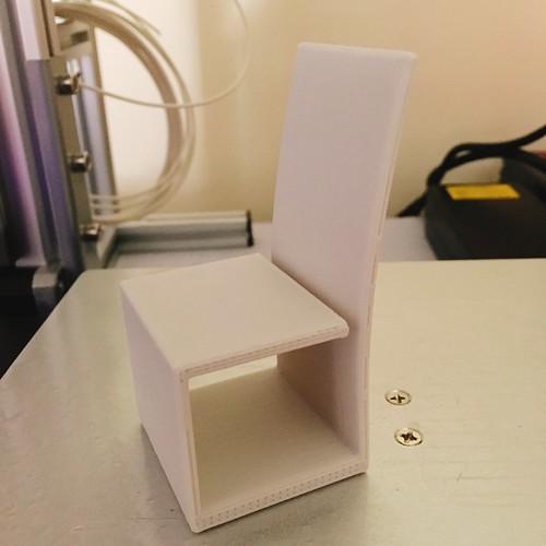 3d printed dollhouse chair