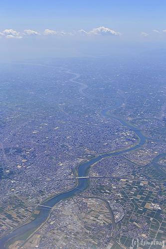 Aerial view of Kurume