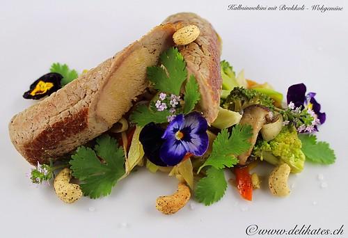 Low-Carb-Rezept - Kalbsinvoltini auf Brokkoli-Wokgemüse