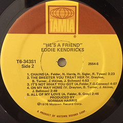 EDDIE KENDRICKS:HE'S A FRIEND(LABEL SIDE-B)