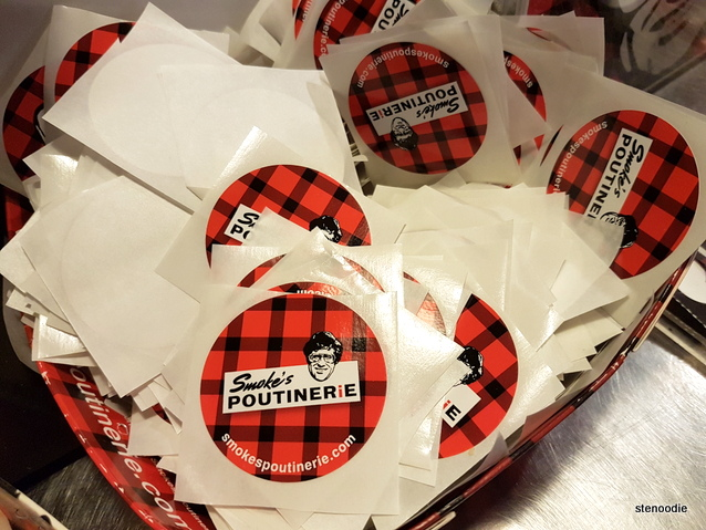 Smoke's Poutinerie stickers
