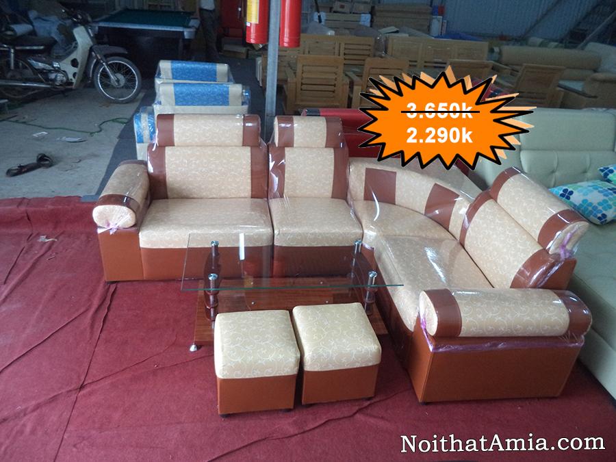 Bo ghe sofa goc dep gia duoi 3 trieu tai Noi that AmiA Ha Noi
