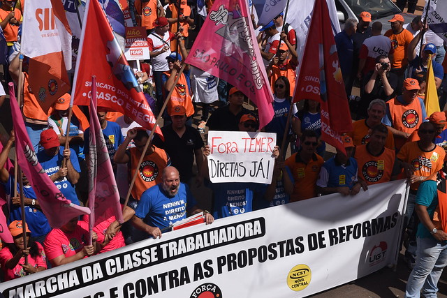 Manifestação contra Temer e as reformas trabalhista e previdenciária
