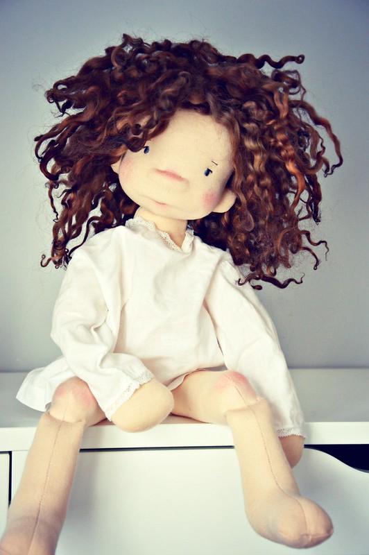 Flore, 17'' Natural Fiber Doll by LesPouPZ