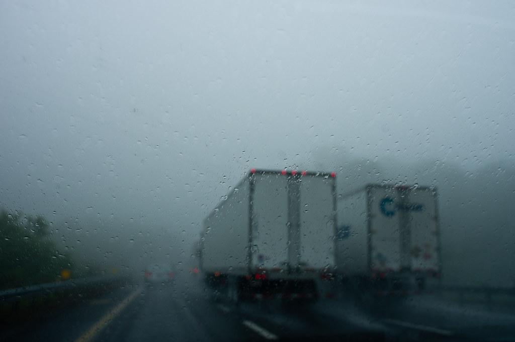 On Hwy 77 heavy fog
