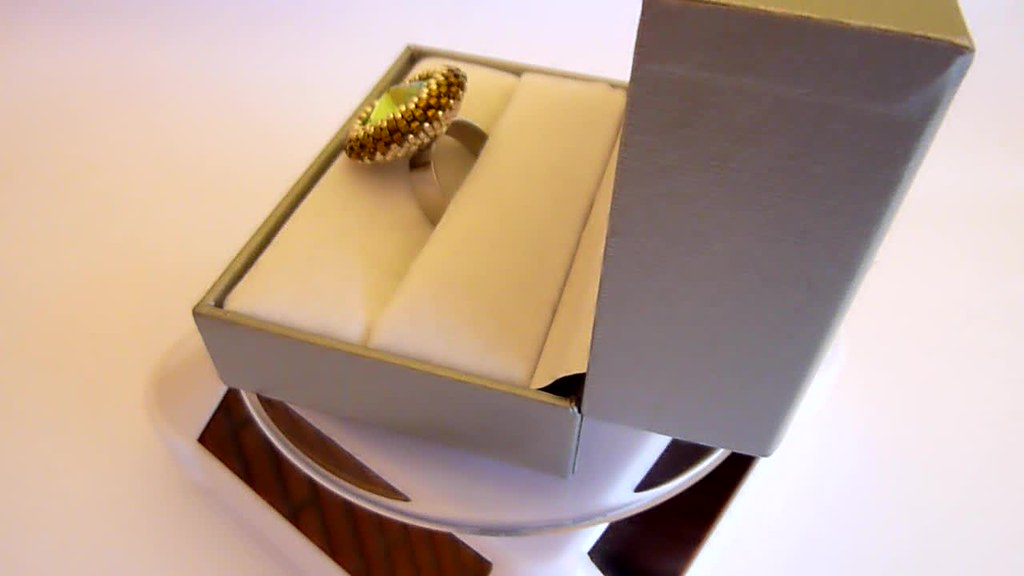Swarovski ring handmade in Italy by Martha Mollichella