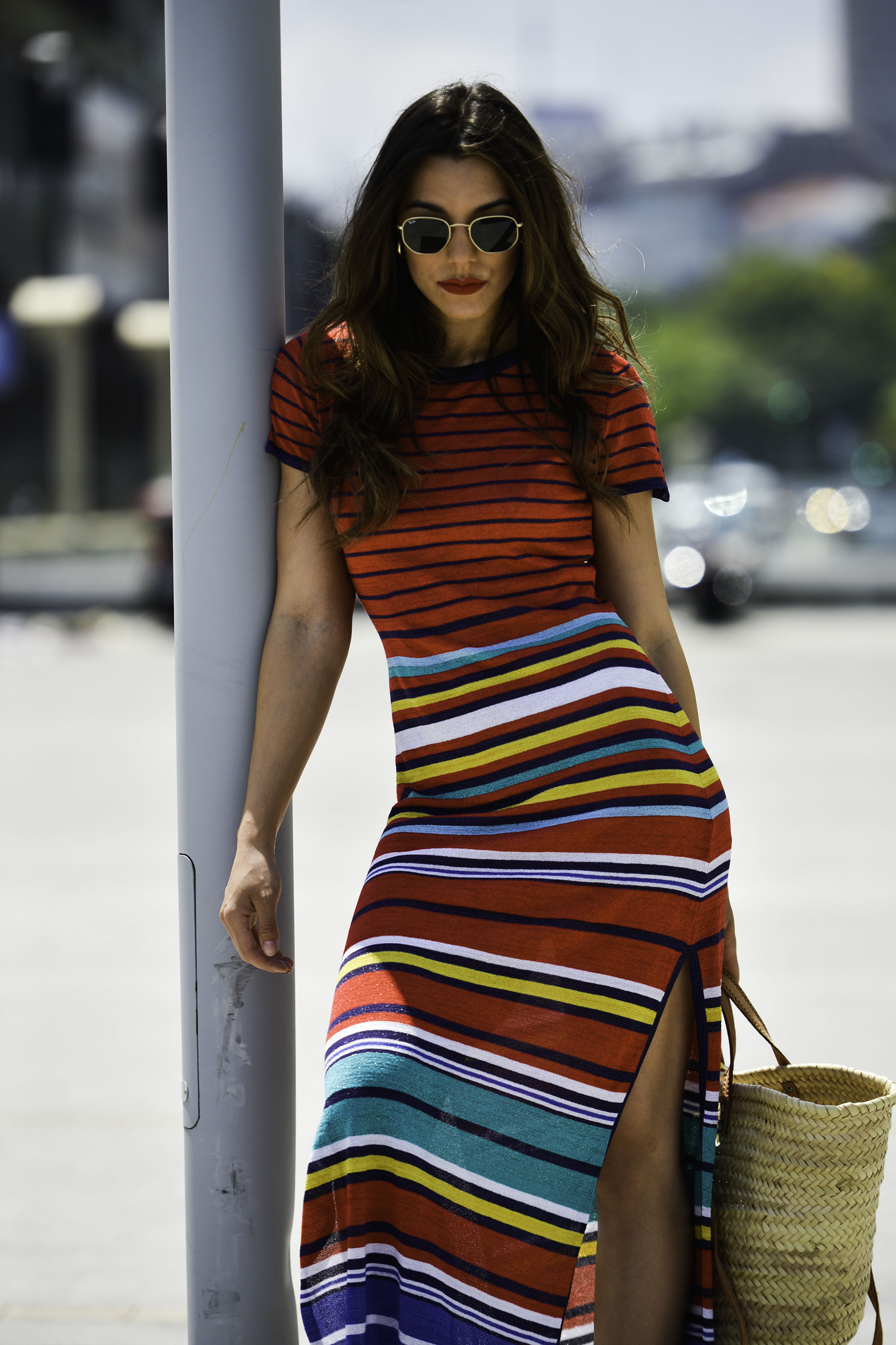 Stripes knit dress