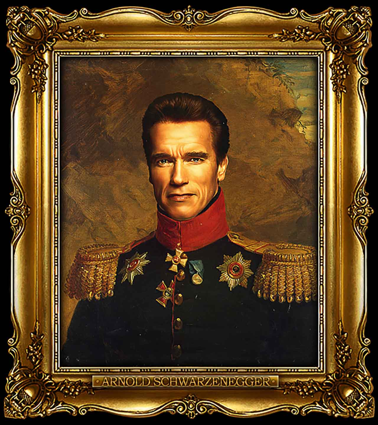 Artist Turns Famous Actors Into Russian Generals - Arnold Schwarzenegger