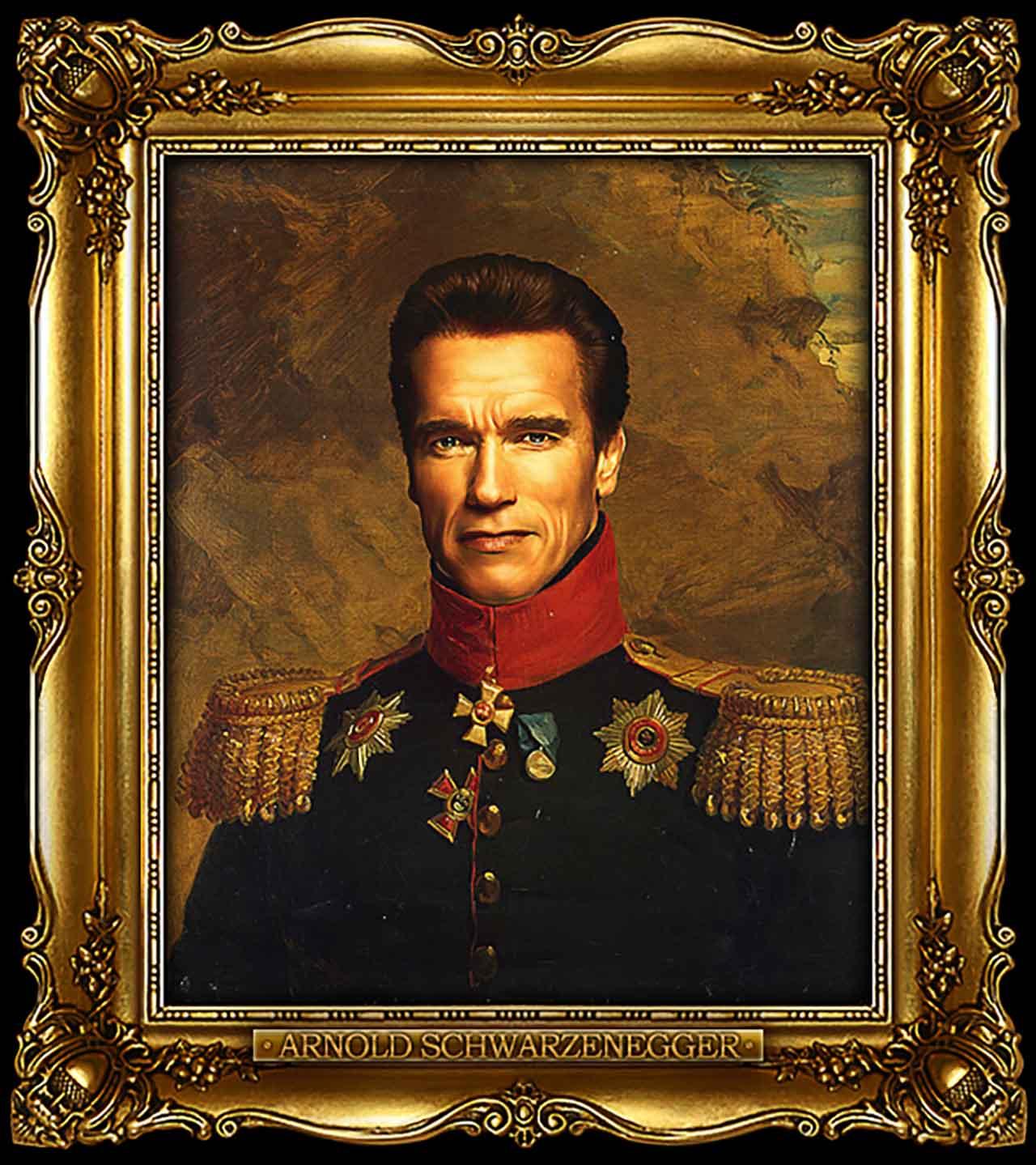Artist Turns Famous Actors Into Russian Generals - Arnold Schwarzenegger