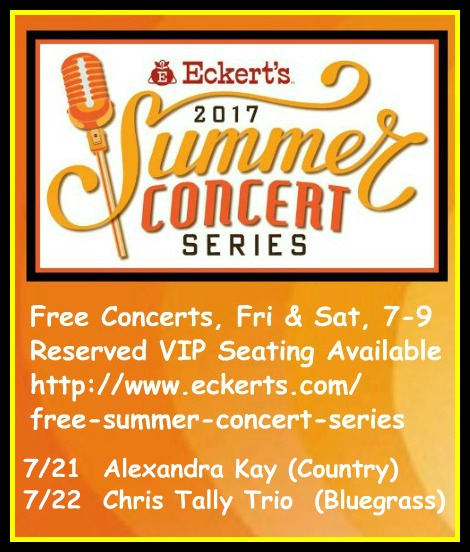 Eckert's Summer Concerts 7-21, 7-22-17