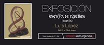 Cartel anunciador de la exposición de escultura