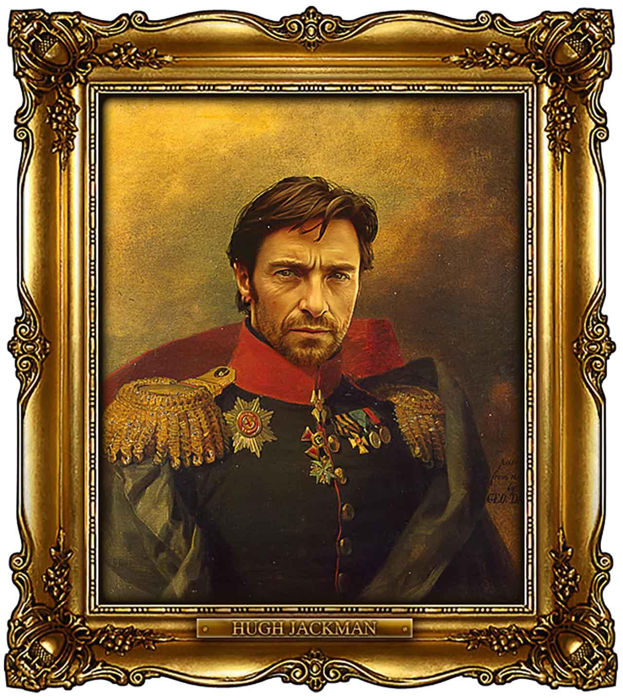 Artist Turns Famous Actors Into Russian Generals - Hugh Jackman