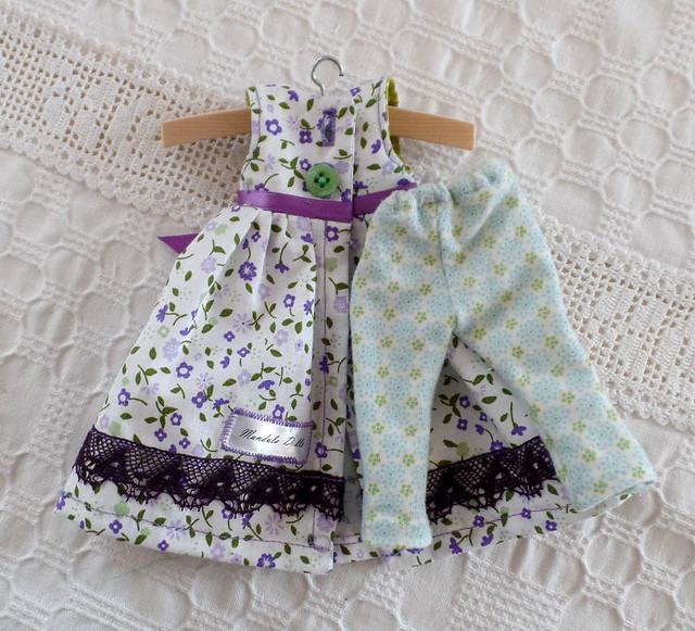 20cm waldorf doll flower dress 2