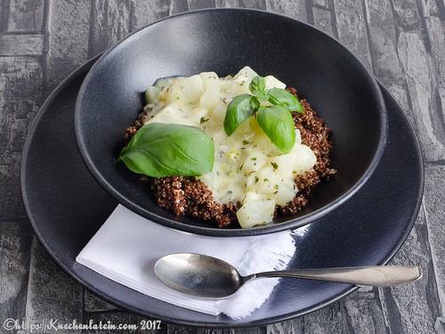 Weiße Ratatouille mit rotem Quinoa-1