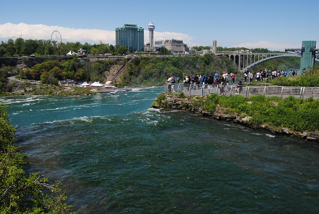 Walk to Luna Island, Niagara Falls, New York