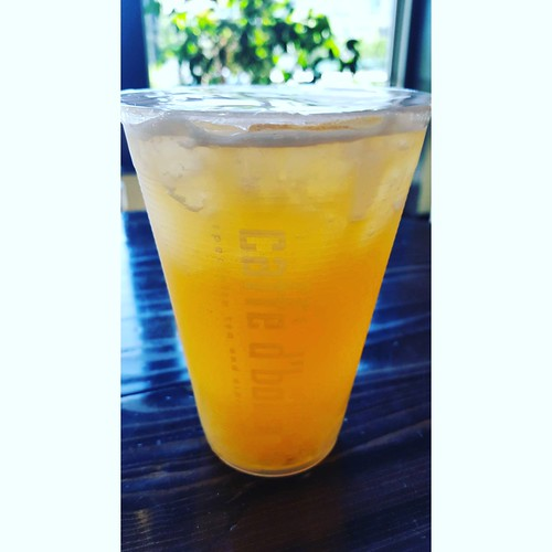 a refreshing bubble tea