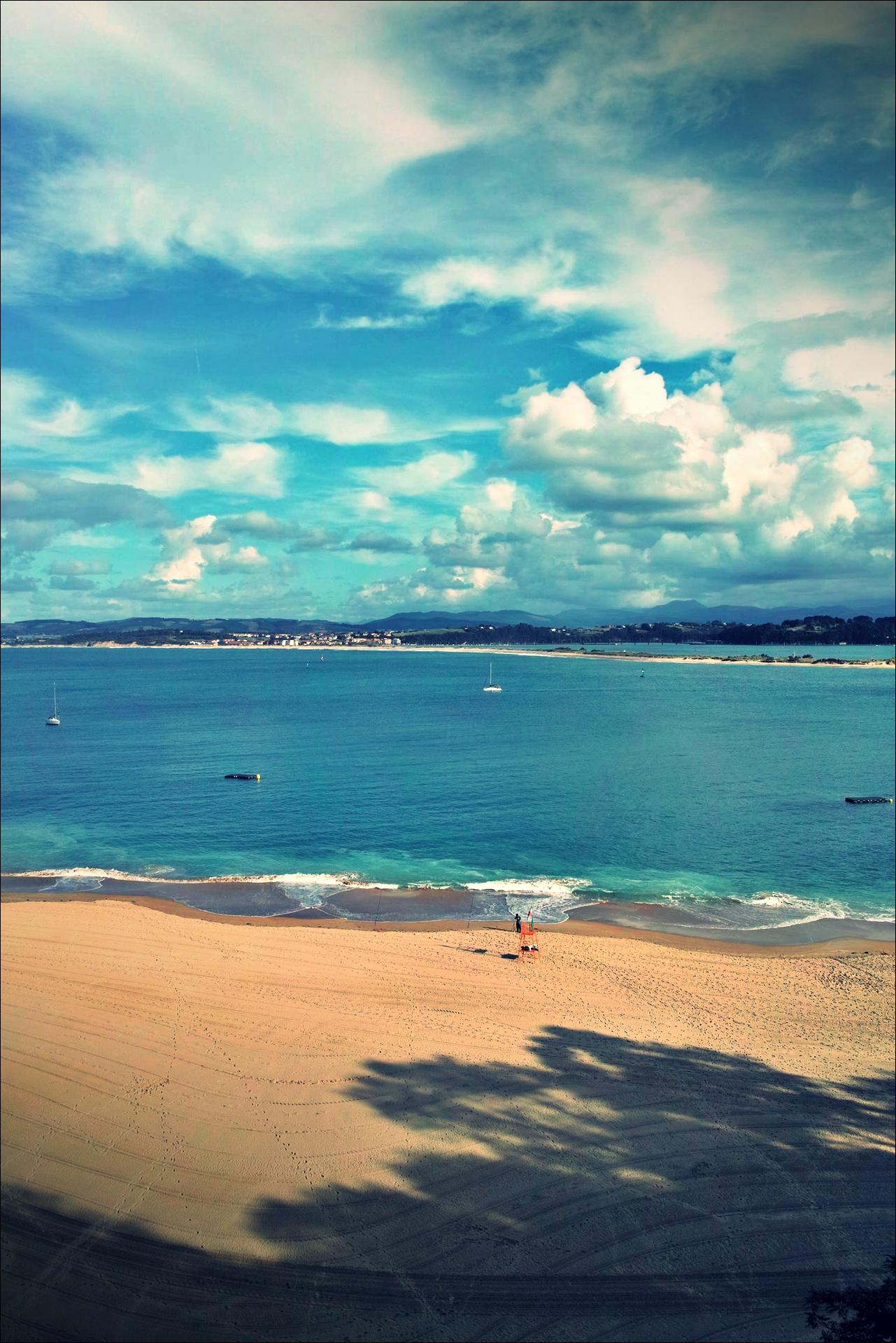 해변-'그란 호텔 빅토리아, 산탄데르, 스페인 (Gran Hotel Victoria, Santander, Spain)'