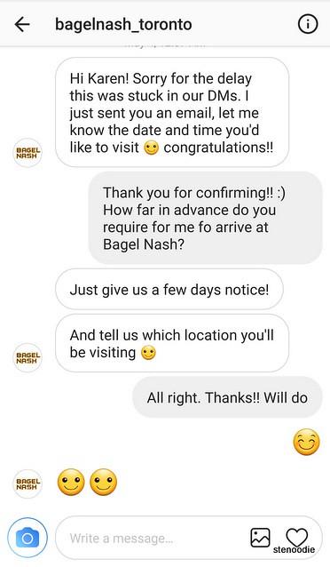 Screenshot of communication