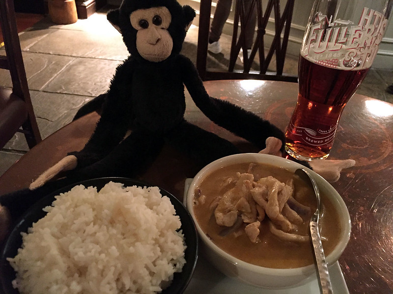 Monkey and massaman chicken