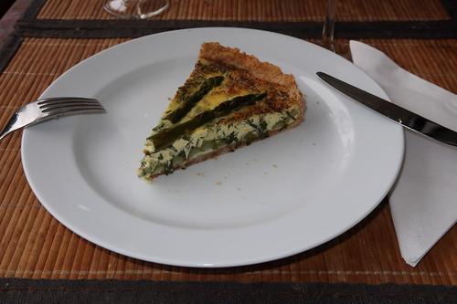 Grüner Spargel Quiche (mein 2. Stück)