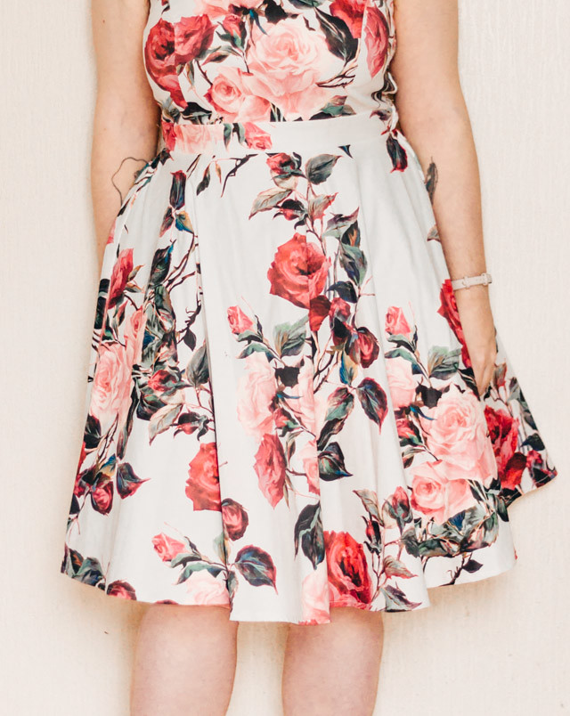 length of rose floral print dress | what i wore