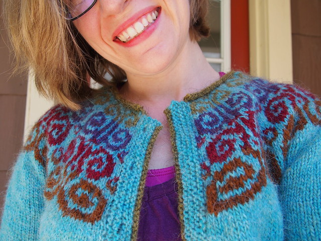 So happy with my cardigan