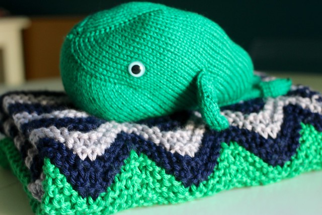 Matzah Ball's blanket and whale